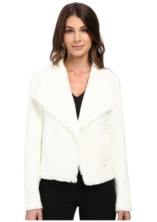 MICHAEL Michael Kors Open Front Fray Tweed Jacket