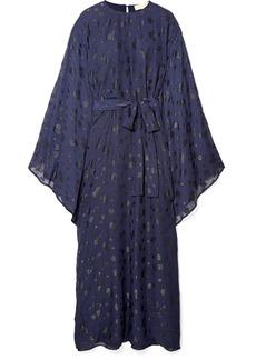 MICHAEL Michael Kors Oversized Metallic Fil Coupé Chiffon Dress