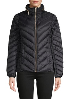 MICHAEL Michael Kors Packable Chevron Puffer Down Jacket