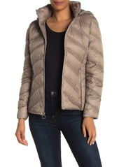 MICHAEL Michael Kors Packable Hooded Zip Down Puffer Jacket
