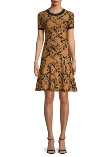 MICHAEL Michael Kors Paisley Jacquard Sheath Dress