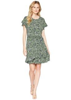 MICHAEL Michael Kors Paisley Ruffle Wrap Dress