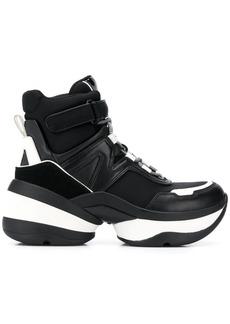 MICHAEL Michael Kors panelled high top sneakers