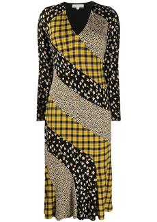 MICHAEL Michael Kors panelled midi dress