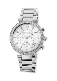 MICHAEL Michael Kors Parker 39mm Chronograph Bracelet Watch w/ Crystals