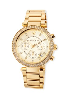 MICHAEL Michael Kors Parker 39mm Chronograph Bracelet Watch w/ Crystals  Gold