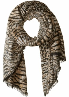 MICHAEL Michael Kors Patchwork Animal Wrap