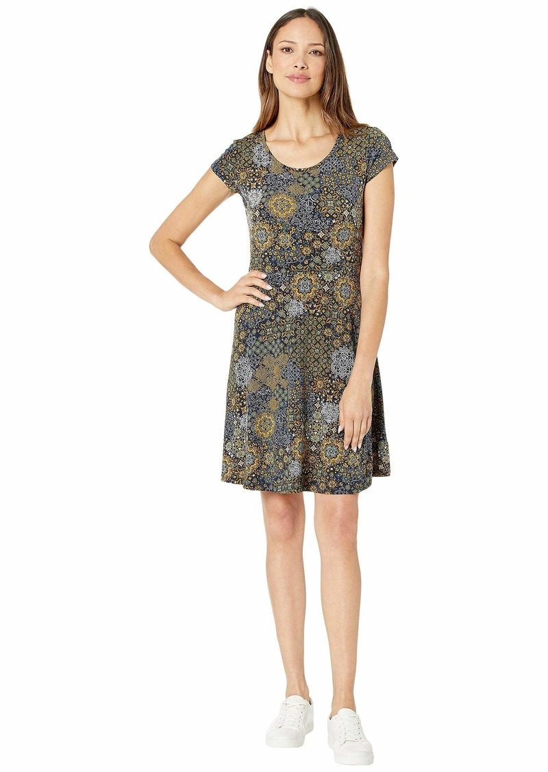 MICHAEL Michael Kors Patchwork Medallion Cap Dress