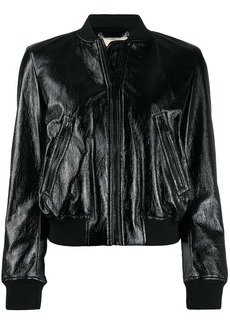 MICHAEL Michael Kors patent bomber jacket