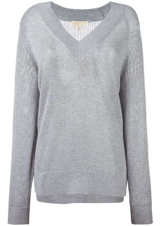 MICHAEL Michael Kors perforated detail sweatshirt