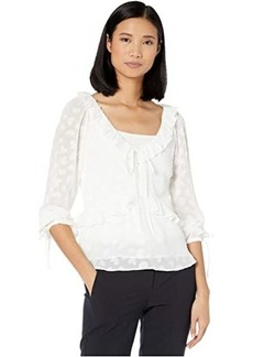 MICHAEL Michael Kors Petal Burnout V-Neck Top