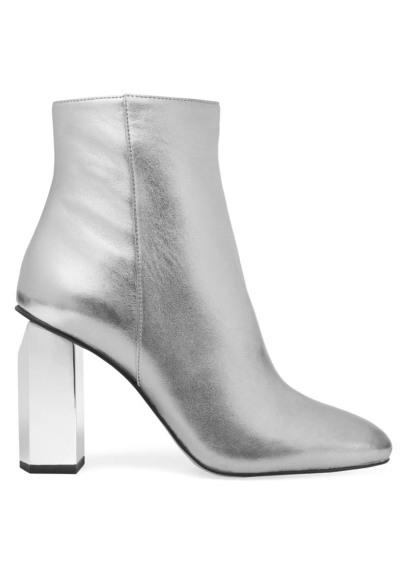 MICHAEL Michael Kors Petra Metallic Leather Ankle Boots