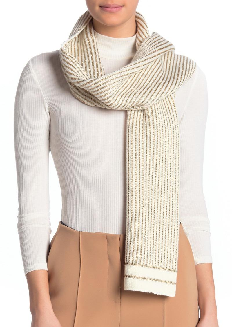 MICHAEL Michael Kors Pinstripe Jacquard Knit Wrap Scarf