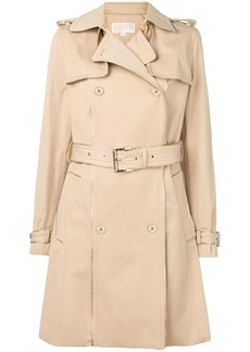 MICHAEL Michael Kors piped trim trench coat