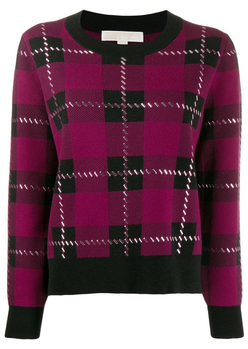 MICHAEL Michael Kors plaid embellished jumper