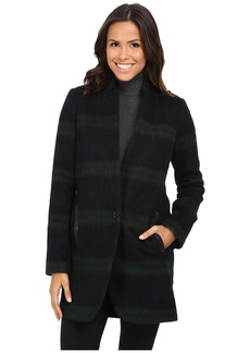 MICHAEL Michael Kors Plaid Menswear Wool Coat