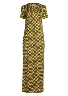 MICHAEL Michael Kors Plaid T-Shirt Maxi Dress