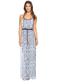 MICHAEL Michael Kors Plains Zebra Pleat Maxi