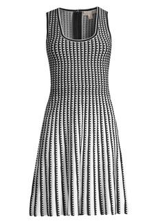 MICHAEL Michael Kors Pleated Knit Fit-&-Flare Dress