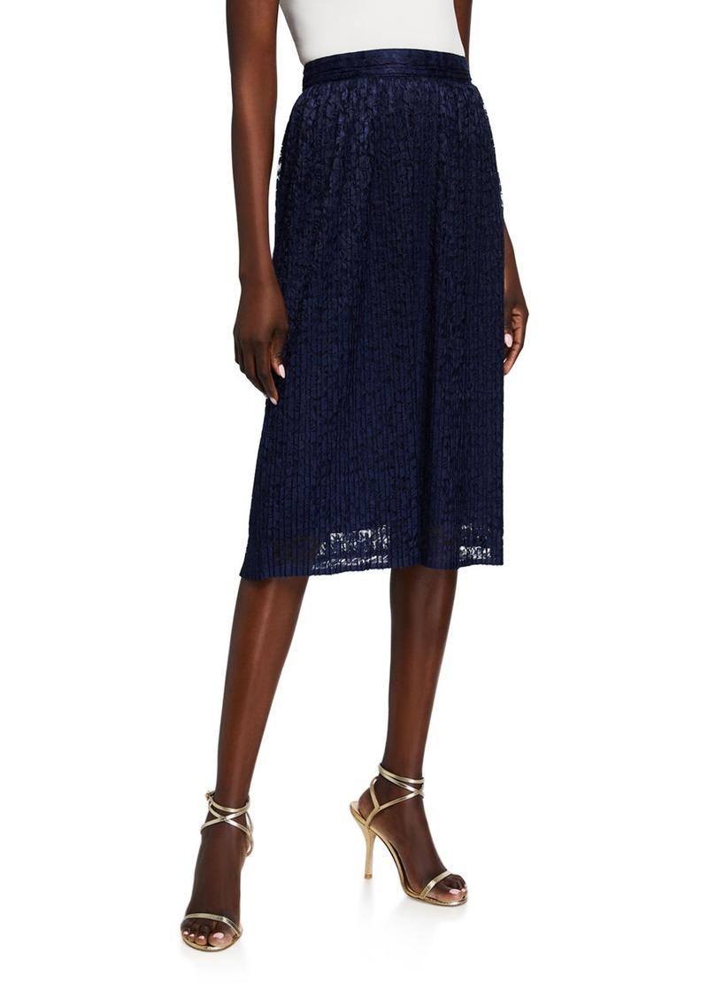 MICHAEL Michael Kors Pleated Lace Skirt