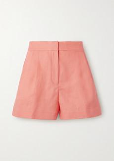 MICHAEL Michael Kors Pleated Linen Shorts