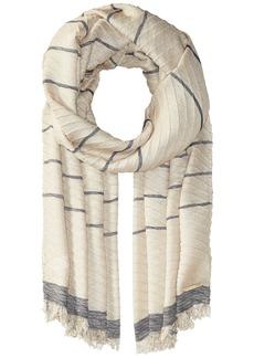 MICHAEL Michael Kors Pleated Metallic Yarn-Dyed Scarf