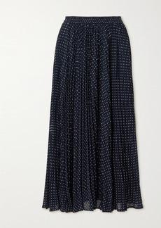 MICHAEL Michael Kors Pleated Polka-dot Georgette Midi Skirt