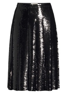 MICHAEL Michael Kors Pleated Sequin Skirt