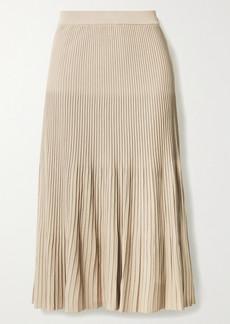 MICHAEL Michael Kors Pleated Stretch-knit Midi Skirt