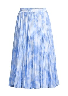 MICHAEL Michael Kors Pleated Tie-Dye Skirt