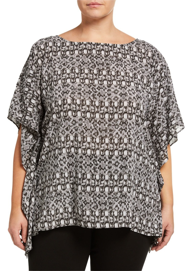 MICHAEL Michael Kors Plus Size Flutter Top