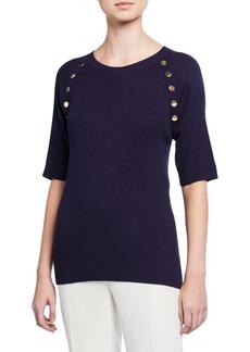 MICHAEL Michael Kors Plus Size Half-Sleeve Raglan Sweater