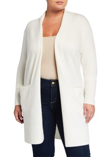 MICHAEL Michael Kors Plus Size Long Luxe Cardigan with Ribbed Sleeves