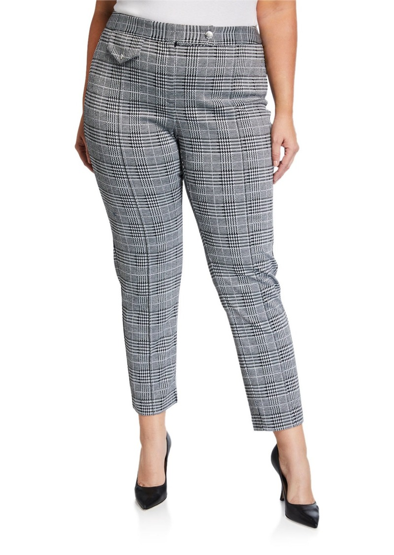 MICHAEL Michael Kors Plus Size Pintuck Snap-Pocket Pants