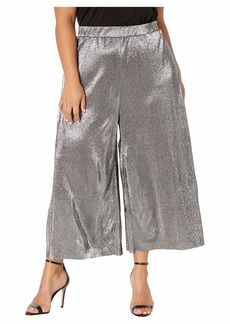 MICHAEL Michael Kors Plus Size Pleated Metallic Pants