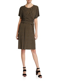 MICHAEL Michael Kors Plus Size Printed Faux-Wrap A-Line Dress