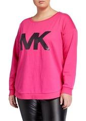 MICHAEL Michael Kors Plus Size Sequin Logo Sweatshirt
