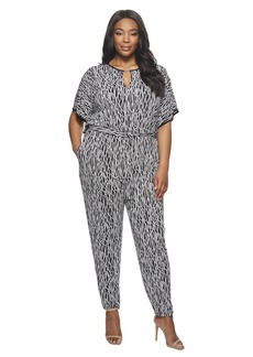 MICHAEL Michael Kors Plus Size Square Sleeve Jumpsuit