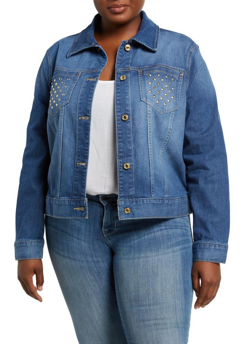 MICHAEL Michael Kors Plus Size Stud Denim Jacket