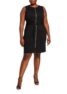 MICHAEL Michael Kors Plus Size Utility Front-Zip   Dress