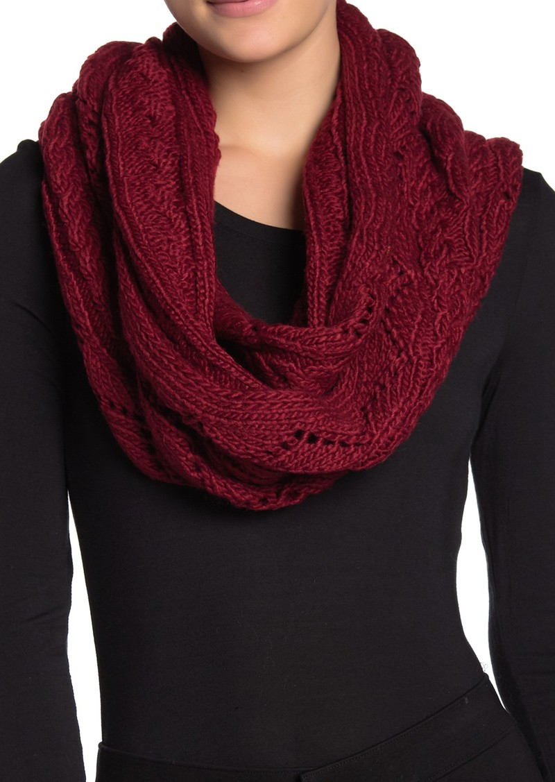 MICHAEL Michael Kors Pointelle Cable Knit Infinity Scarf