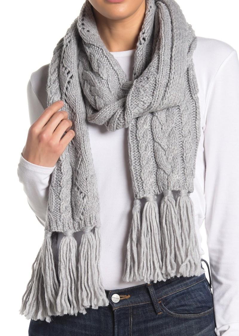 MICHAEL Michael Kors Pointelle Cable Knit Scarf