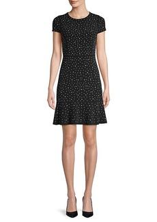MICHAEL Michael Kors Polka Dot A-Line Dress