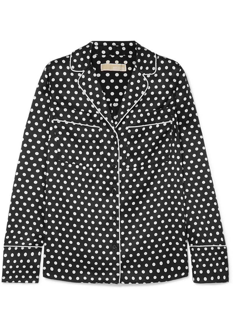 MICHAEL Michael Kors Polka-dot Hammered-satin Shirt