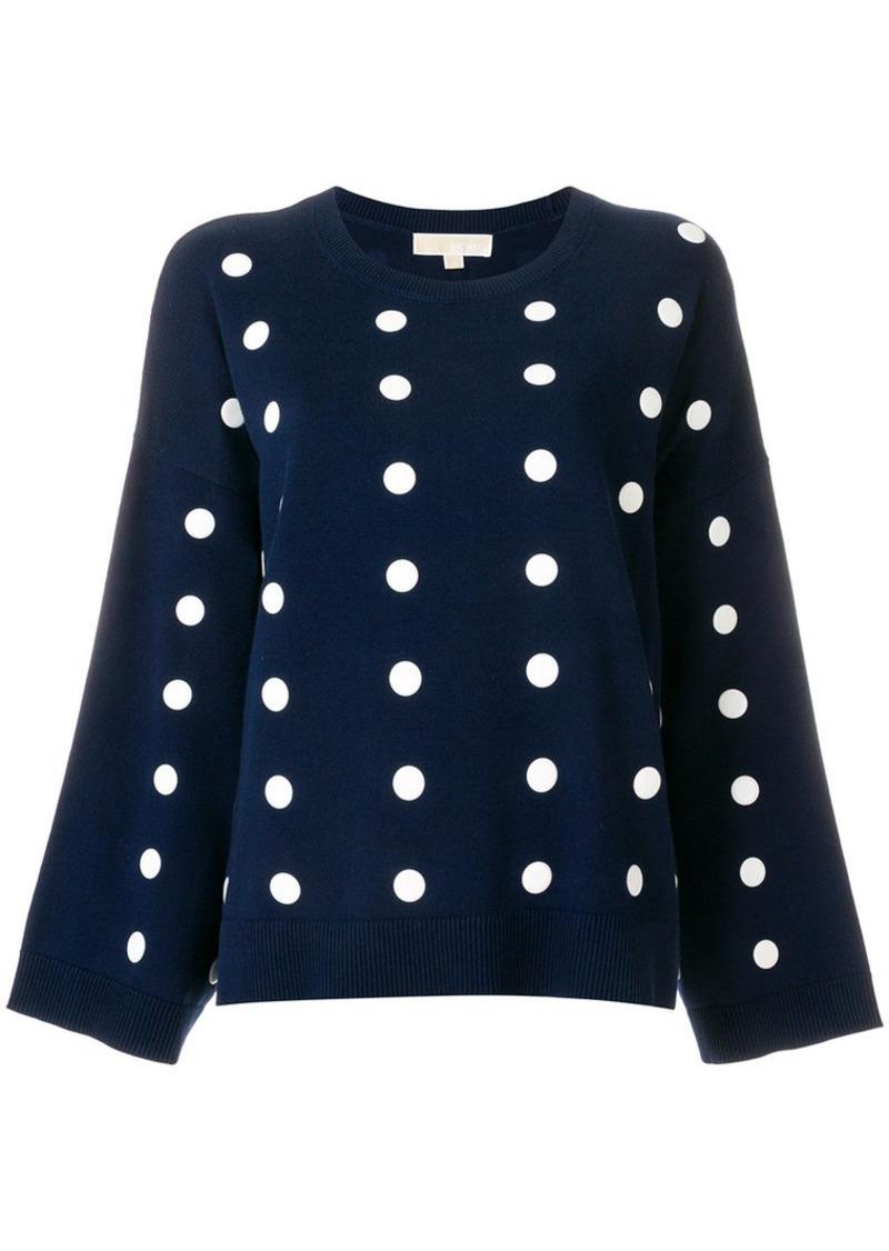 ce0fb04db SALE! MICHAEL Michael Kors polka-dot oversized pullover