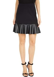 MICHAEL Michael Kors Ponte Leather Mix Skirt