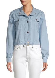 MICHAEL Michael Kors Poplin Cargo Jacket