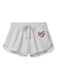 MICHAEL Michael Kors Pride Rainbow Logo Patch Heather Shorts