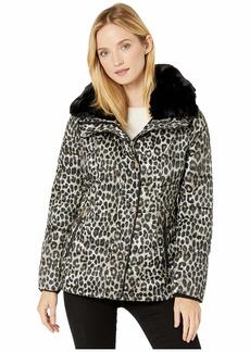 MICHAEL Michael Kors Print Jacket with Faux Fur Collar M424303TZ