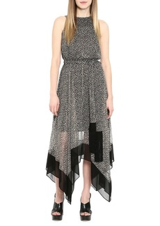 MICHAEL Michael Kors Printed Handkerchief Hem Dress
